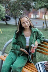 conjunto verde holgado mujer