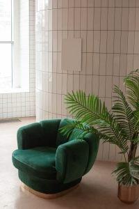 decoración color verde