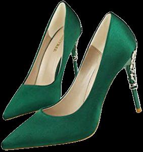 zapatos verdes tacón